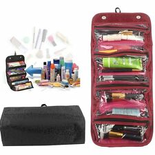 Roll-up Cosmetic Makeup Case Organizer Pouch Hanging Toiletry Jewellery Wash Bag