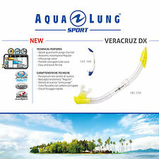 AQUA LUNG SPORT VERACRUZ DX SNORKEL DIVING SCUBA SEA - ADULT SIZE M/L 2 COLOURS