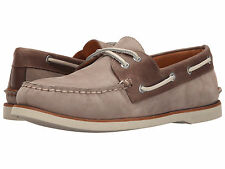NIB Sperry Top-Sider Gold Cup Nubuck Boat Shoe Mens Taupe Brown Sz 10.5-12 $160