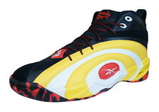 Reebok Classic Shaqnosis OG Mens Leather Mid Top Sneakers - Yellow and Black