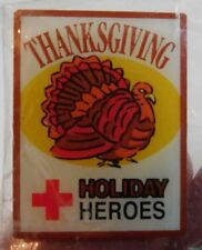 American Red Cross Holiday Heroes Thanksgiving Turkey Pin Pinback