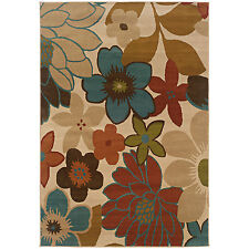 RUGS AREA RUGS CARPET AREA RUG FLOOR DECOR FLORAL WHITE IVORY RUGS NEW