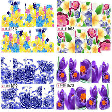 Fashion Nail Art Stickers Water Decals Nail Water Transfer Wraps Flowers