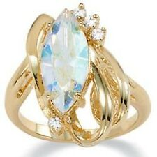 PalmBeach Marquise-Cut Aurora Borealis Crystal Cocktail Ring in 14k Gold-Plated