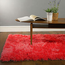 New Red Super Soft Luxury High Quality Shaggy Mat Cheap Thick Pile Faux Fur Rugs