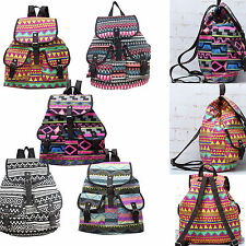 Women Girls Canvas Travel Bag Satchel Backpack Rucksack Shoulder School Bag New