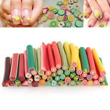 Nail Art Fimo Canes Rods Sticks Sticker Decoration Fruit Flower Heart Dollhouse