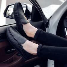 Fashion Mens faux leather slip on loafer moccasins driving car shoes new