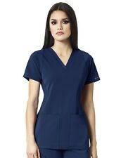 WonderWink Medical Scrub High Performance Navy Utility Top Sz XS-XXL NWT