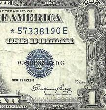 1935E $1 SILVER CERTIFICATE! **STAR** CHOICE FINE! Old US Paper Money!