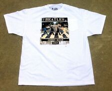 The Beatles Abbey Road Album Cover White tee Shirt Official Apple Release NEW