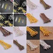 Wholesale 100Pcs Silver/Golden Head Eye Ball Style Pin Jewelry Findings 16-70MM