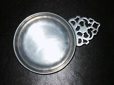 STEDE SMALL PEWTER PORRINGER BOWL W/FILIGREE HANDLE