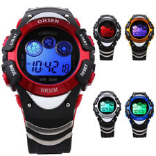Men Waterproof OHSEN Digital LCD Alarm Sport Rubber Army Quartz Date Wrist Watch