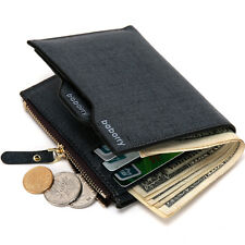 Men's Leather Wallet Money Clip ID Credit Card holder Bifold Coin Purse Pocket
