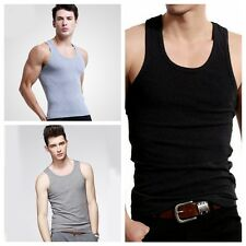 Men Basic Singlet Slim Tank Tops Round-neck Sleeveless Sport T-Shirt Muscle Tee