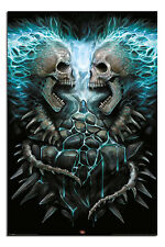 Spiral Flaming Spine Gothic Poster New - Maxi Size 36 x 24 Inch