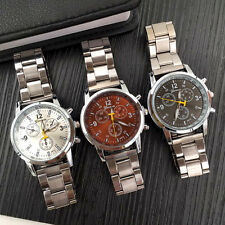 Luxury Fashion Mens Womens Stainless Steel Quartz Analog Sport Wrist Watch