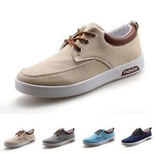 New Korean Mens Canvas Lace Up Casual Flats Fashion Shoes skate board Sneakers