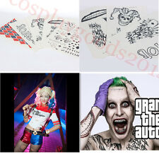 DC Suicide Squad Harley Quinn Tattoos Full Body Stickers Sexy Spray Waterproof