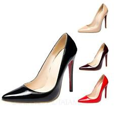 tata mens Ultra High Heels womens Prom Pointed toe Shoes plus Size 5 6 7 8 9 10