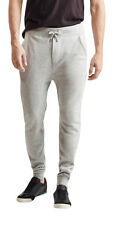 aeropostale mens heathered fleece jogger sweatpants lightest heather grey