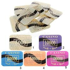 10pcs Acrylic Rectangle Poker Chips Mahjong Card Game Texas Poker Accessory