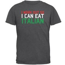 Work Out Eat Italian Mens T Shirt