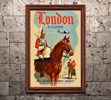 Pan Am London #2 - Vintage Airline Travel Poster [6 sizes, matte+glossy avail]