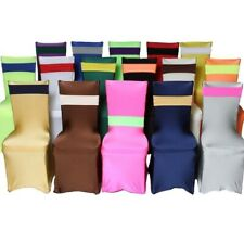NEW 10 x Chair Cover Bands Double Layer Lycra Spandex Wedding Event Decorations