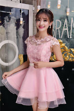 New Women's High Quality Korean Style Cocktail Party Lace Embroidered Dress