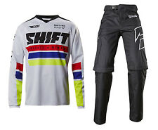 2017 Shift Racing Mens Recon Phoenix Jersey Ride Pant COMBO MX Offroad White
