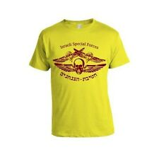 Israel Tzanhanim Red Logo on Yellow T-Shirt IDF Army
