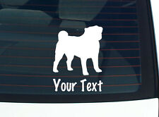 CUSTOM PUG PUGS DOG GRAPHIC DECAL STICKER ART WALL CAR