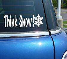 THINK SNOW WINTER SPORTS SKI SNOWBOARD GRAPHIC DECAL STICKER ART CAR WALL DECOR