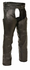 Mens Leather 3 Pocket Chaps with Thigh Patch Pocket