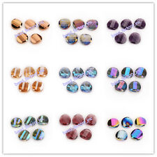 10/20ps DIY Jewelry Faceted Glass Crystal Twist Tile Beads Spacer 18mm 27 Colors