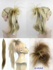 "STRAIGHT HAIR FOX-TAIL ON 22"" LONG BENDABLE WIRE HAIRPIECE BUN HAIRDO EXTENSIONS"
