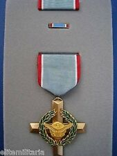 RARE GENUINE AIR FORCE CROSS BRAVERY MEDAL FOR AIR COMBAT PILOTS CASED ORDER