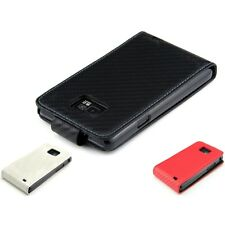 kwmobile CARBON SYNTHETIC LEATHER CASE FOR SAMSUNG GALAXY S2 I9100 FLIP COVER