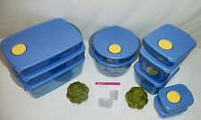 Tupperware BLUE Rock N Serve microwave vent ~Set CHOICE ~Rect ~Lg Round ~Mini 1c