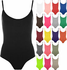 New Womens Strappy Sleeveless Ladies Camisole Vest Bodysuit Leotard Top