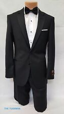 New Mens Black Tuxedo Formal Wedding Groom Suit Set TUXXMAN Modern Fit All Size