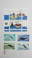 FAROE ISLANDS STAMPS - MNH - MS. EUROPA. ST BRENDANS VOYAGES 1994, WHALES 1990