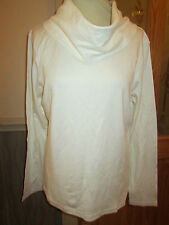 cotton traders cream long sleeve cowl neck top size 20 brand new with tags
