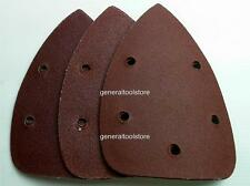 ASSORTED PALM SANDER PADS DISCS  HOOK LOOP TRIANGLES MIXED GRIT MOUSE EB30