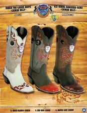 Wild West Women's Ranch Toe Caiman Belly Wingtip Cowboy Western Boots Diff.Color