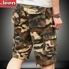 Mens military outdoor shorts camo loose plus pants trousers overalls slacks size