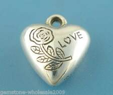 Wholesale W09 Silver Tone Valentine Love Heart Charms Pendants
