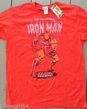 NWT Mens Marvel Comics Red T Shirt Invincible Iron Man Sizes Vary